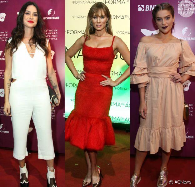 Produções de Thaila Ayala, Mariana Ximenes e Isabella Santoni se destacaram no Festival de Cinema do Rio. Veja mais looks!