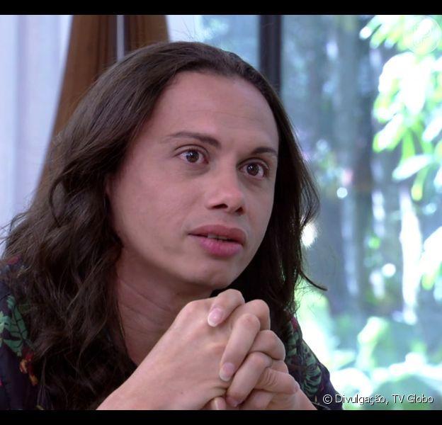Silvero Pereira se emocionou com elogios de Humberto Martins, no 'Mais Você' desta quarta-feira, 18 de outubro de 2017: 'Meu mestre'