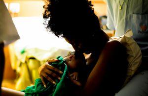 Sheron Menezzes exibe 1ª foto do filho, Benjamin: 'Veio forte, lindo e saudável'