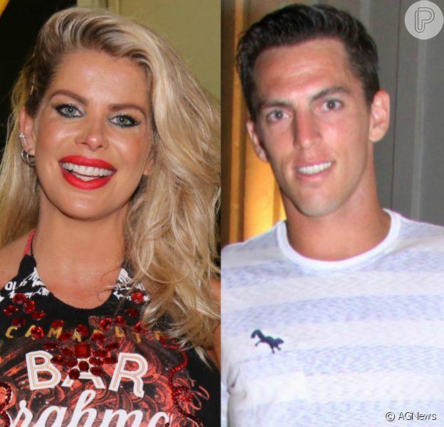 Karina Bacchi engatou namoro com o jogador Amaury Nunes, ex da atriz Danielle Winits