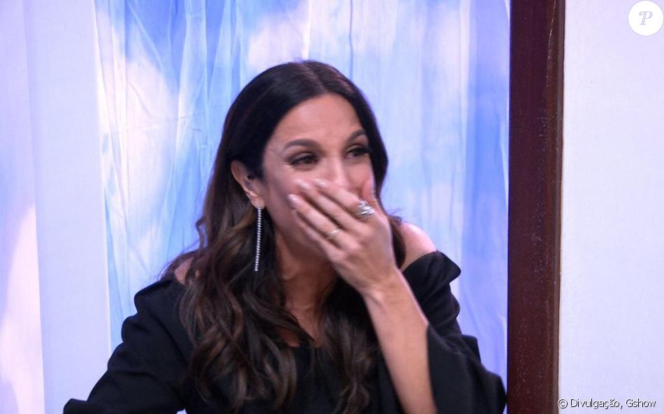 Ivete Sangalo chora ao participar do 'Visitando o passado', do 'Caldeirão do Huck', em 21 de outubro de 2017