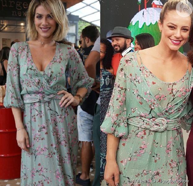 Giovanna Ewbank repete vestido de quase R$ 3 mil usado por Paolla Oliveira, em 21 de outubro de 2017