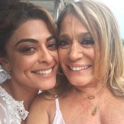Susana Vieira exalta Juliana Paes em encontro: 'Mulher mais famosa do ano'