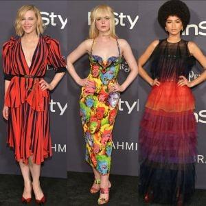 Cate Blanchett. Foto do site da Pure People que mostra Cate Blanchett, Elle Fanning e Zendaya se destacam em premiação. Mais looks!