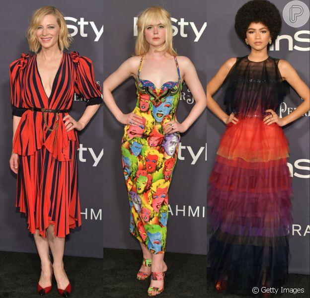 Looks de Cate Blanchett, Elle Fanning e Zendaya chamaram atenção no InStyle Awards. Veja mais produções!