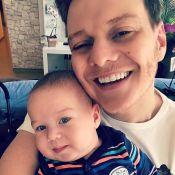Filho de Thais Fersoza e Teló, Teodoro aparece sorridente aos 3 meses: 'Benção'