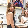 Fernanda Lima foi a evento de marca de cosméticos The Body Shop, nesta quarta-feira, 25 de outubro de 2017, em São Paulo