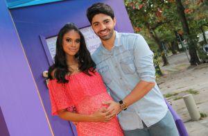 Grávida de 9 meses, Aline Dias destaca ansiedade do namorado: 'Companheiro'