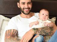 Gusttavo Lima assume que não consegue trocar fralda do filho: 'Estômago fraco'