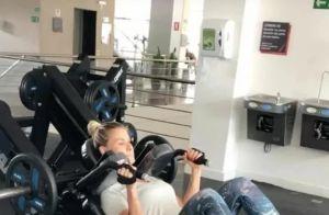 Andressa Suita mostra treino intenso em academia: 'Meu filho pesa quase 8 kg'