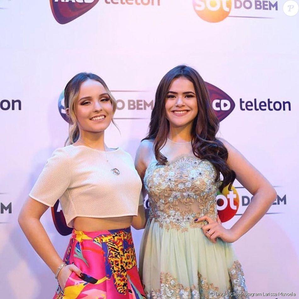 Larissa Manoela e Maisa Silva posaram juntas neste sábado, 28 de outubro de  2017, a314759d82