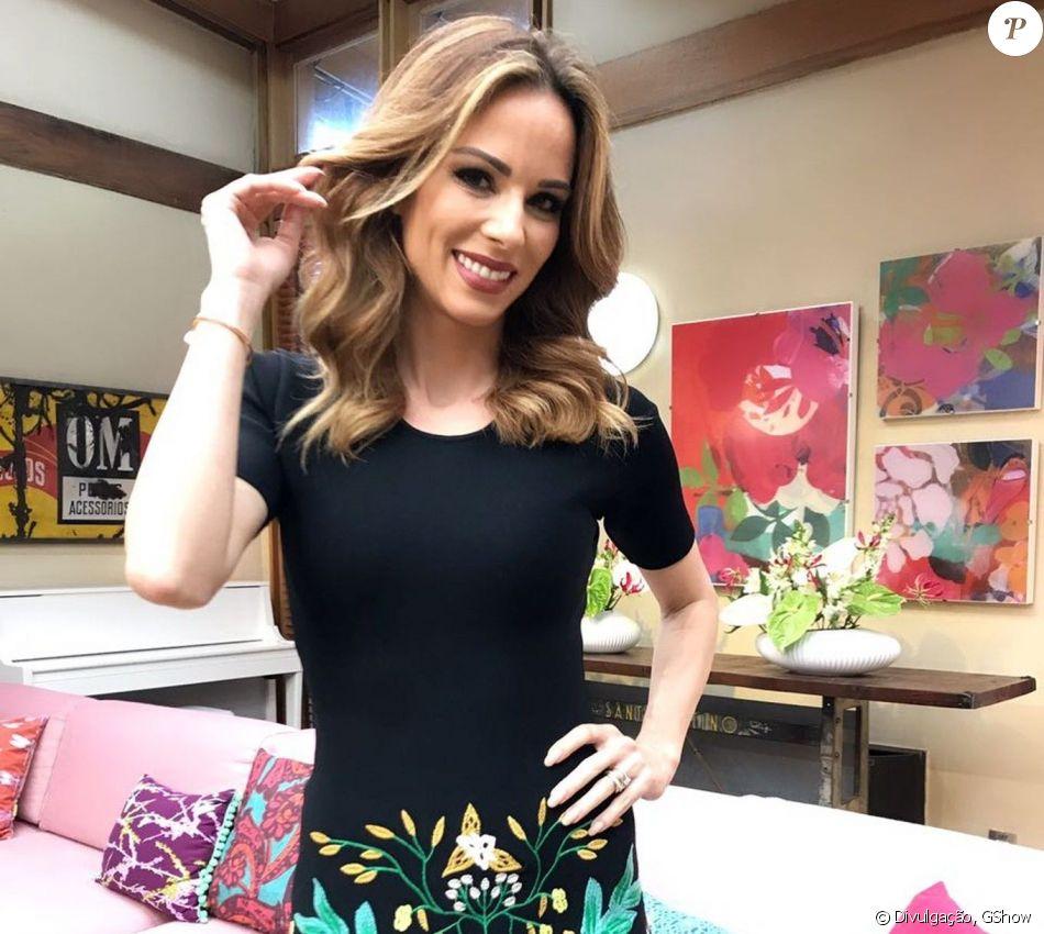 Ana Furtado participou do 'Domingão do Faustão' neste domingo, 29 de outubro de 2017