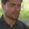 Gustavo (Carlo Porto) não entende a decisão de Cecília (Bia Arantes) em terminar o namoro, na novela 'Carinha de Anjo'