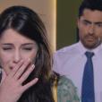 Gustavo (Carlo Porto) fica arrasado com o fim do namoro com Cecília (Bia Arantes), na novela 'Carinha de Anjo'