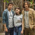 Na novela 'Malhação', Tato (Matheus Abreu), Keyla (Gabriela Medvedovski) e Deco (Pablo Morais) terão uma discussão tensa sobre a melhor forma de cuidar de Tonico