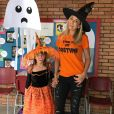 Ticiane Pinheiro se fantasiou para festa de halloween na escola da filha, Rafaella Justus
