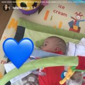 Filho de Thais Fersoza vira sozinho para dormir e mãe paparica:'Sabe o que quer'