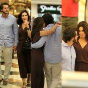 Namoro? Fátima Bernardes troca carinhos e anda de mãos dadas em shopping. Fotos