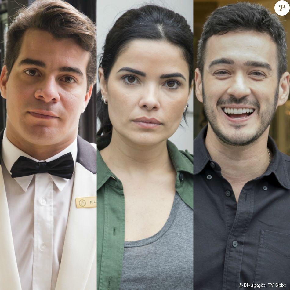 Na novela 'Pega Pega' Antônia (Vanessa Giácomo) vai morar com Domênico (Marcos Veras) após beijar Júlio (Thiago Martins) no capítulo que vai ao ar na quarta-feira, 15 de novembro de 2017