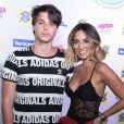 Bruno Guedes levou a namorada, Jade Seba, ao Festeja Brasil