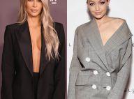 Alfaiataria sexy: Kim Kardashian e Gigi Hadid ousam em looks com blazer. Fotos!