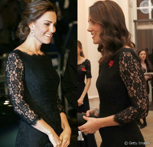 Kate Middleton repete look usado em gravidez de Charlotte