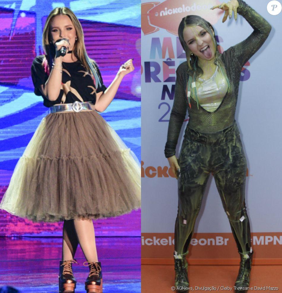a79bf08694171 Veja antes e depois de Larissa Manoela tomar banho de slime no Meus Prêmios  Nick 2017