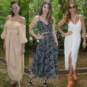Marquezine, Camila Queiroz e Sabrina Sato usam looks fresh em desfile. Fotos!