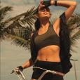 'Tem que ter paciência e vontade de fazer. Meu foco é perna, barriga e bumbum', explicou Camila Queiroz