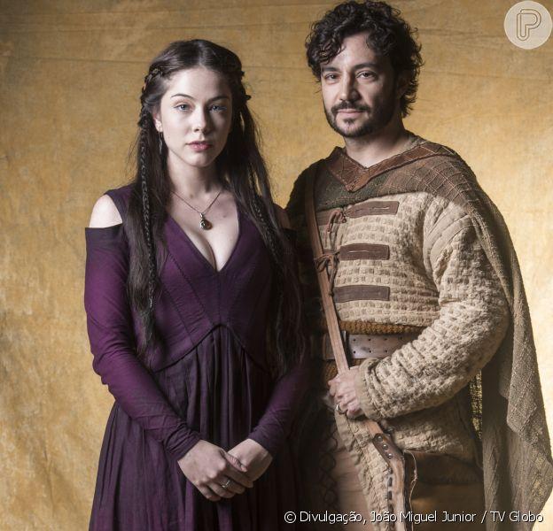 Bia Arantes será a conquistadora Brice na novela 'Deus Salve o Rei', mas não conseguirá fisgar o coração de Osiel, personagem de Rafael Primot