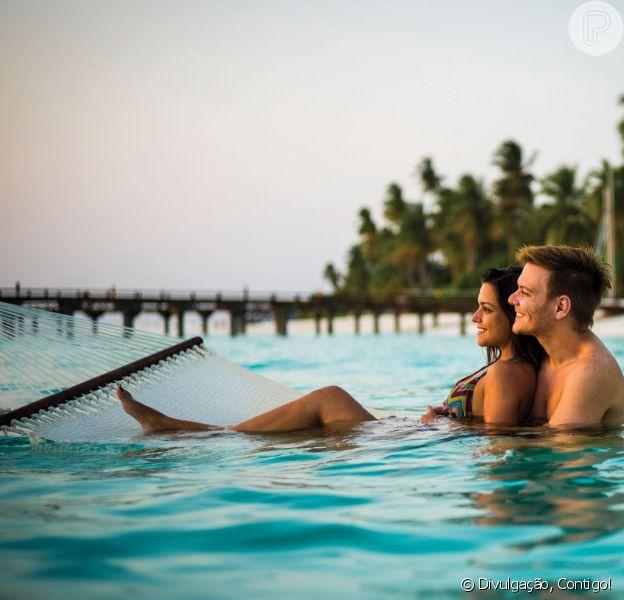 Thais Fersoza e Michel Teló se casaram em cerimônia íntima nas Ilhas Maldivas em janeiro, diz jornal