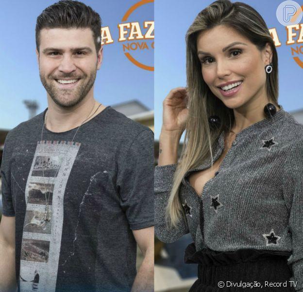 Marcelo Ié Ié e Flávia Viana estão na Roça de 'A Fazenda - Nova Chance'