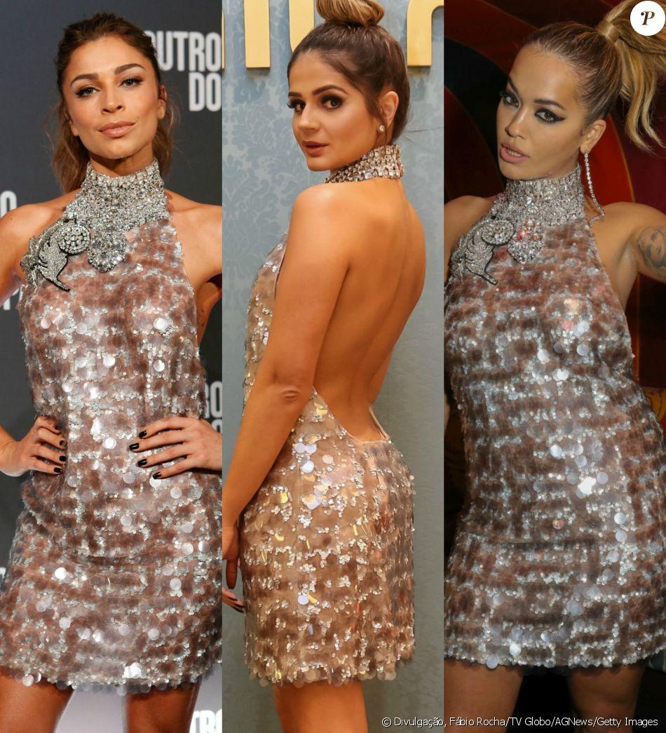 Grazi Massafera, Thássia Naves e Rita Ora já apostaram no mesmo vestido de  paetês Miu 1eb06669ba