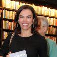 Ana Paula Araújo esteve presente no lançamento do livro 'Biografia da Televisão Brasileira'