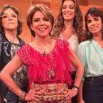 Maria Ribeiro apareceu com visual novo durante o programa 'Saia Justa', no GNT; atriz volta às novelas em 'Falso Brilhante'