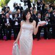 Mouna Ayoub veste Chanel no tapete vermelho do filme 'Mr. Turner', no Festival de Cannes 2014