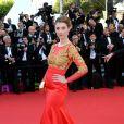Sarah Barzyk prestigia a exibição do filme 'Mr. Turner' no Festival de Cannes 2014