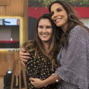 Filha de Fátima Bernardes, Bia Bonemer visita 'mãe' no trabalho: 'Foi ver Ivete'