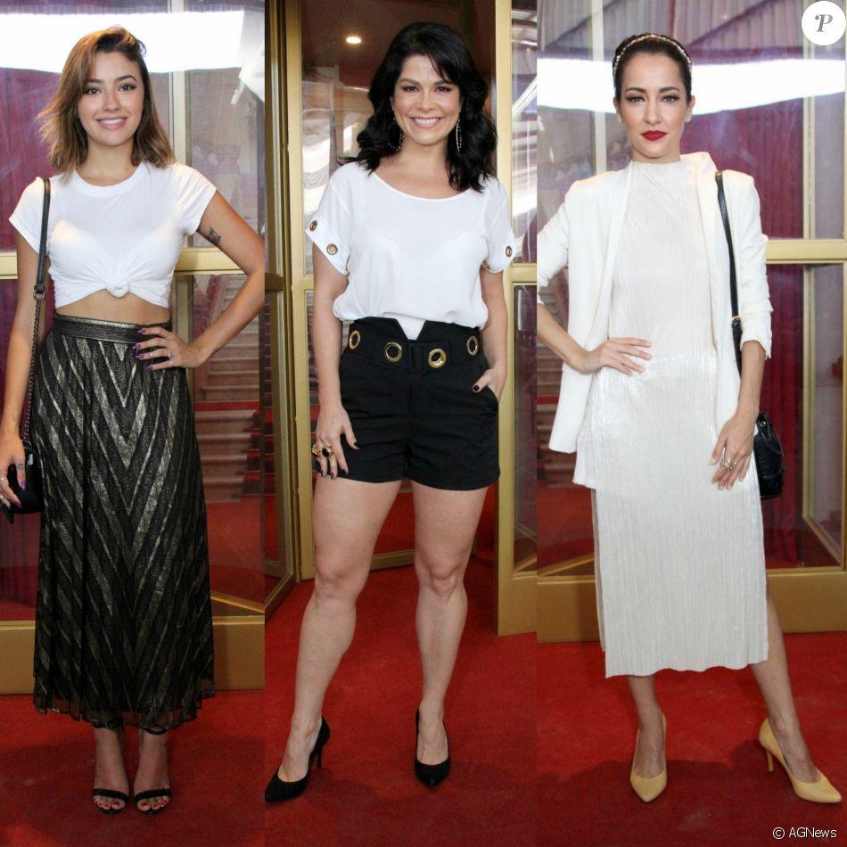 0ffca1c1d Carol Oliveira, Samara Felippo e Maitê Piragibe apostaram no branco para o  lançamento da nova
