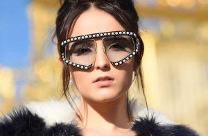 7e7b31610 Larissa Manoela repete óculos usados por Marquezine e ironiza:  'Metalúrgica'. Marina Ruy Barbosa ...