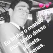 Namorada de Marcelo Adnet elogia humorista no Emmy: 'Marido mais lindo'