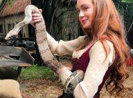 Marina Ruy Barbosa conta bastidores de foto com cobra em novela: 'Romulo fugiu'