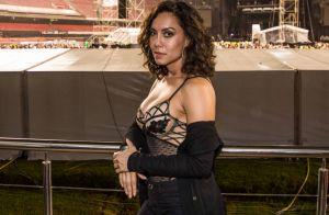 Lia Khey entrega segredo de look transparente no show de Bruno Mars: 'Adesivo'