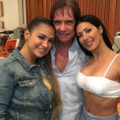 Simaria participa de ensaio com Roberto Carlos após infecção: 'Momento mágico'