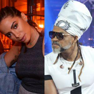 Carlinhos Brown. Foto do site da Pure People que mostra Carlinhos Brown faz música para Anitta por polêmica no cabelo: 'Miscigenada'