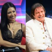 Simaria fica nervosa em gravação com Roberto Carlos e brinca: 'Tem cachacinha?'