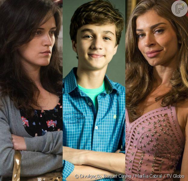Clara (Bianca Bin) reencontra Tomaz (Vitor Figueiredo), mas ele a rejeita e chama Lívia (Grazi Massafera) de mãe, na novela 'O Outro Lado do Paraíso'