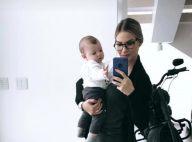 Andressa Suita toca piano para filho, Gabriel, mas admite: 'Ele prefere o pai'