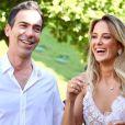 Ticiane Pinheiro e Cesar Tralli se casaram em uma cerimônia realizada em um hotel de Campos do Jordão