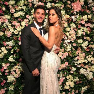 Arthur Aguiar. Foto do site da Pure People que mostra Mayra Cardi antecipou casamento com Arthur Aguiar: 'Posso estar grávida logo'